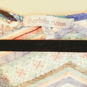 Charlotte Russe Tops - $2/15!! Multicolored front tie tank